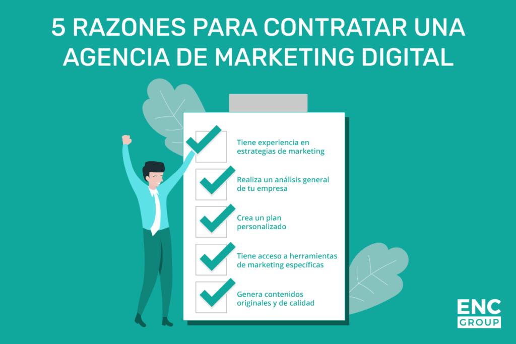 razones para contratar una agencia de marketing digital